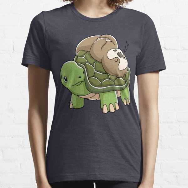 Piggyback Running Riding Team Gift Sloth Turtle Shirt Essential T-Shirt