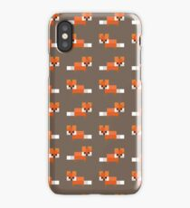 Pixel Foxes Pattern iPhone Case