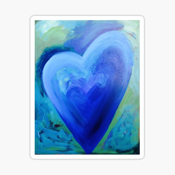 Hearts on Fire - Blue Heart Sticker