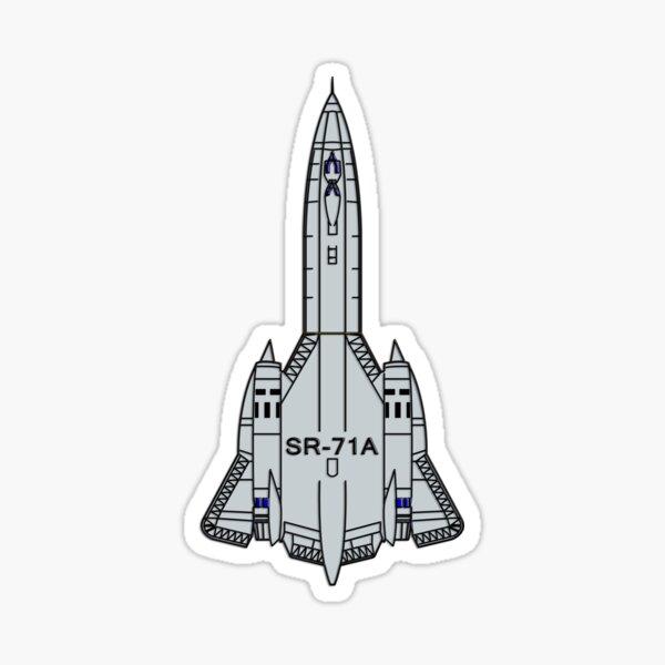 USAF SR-71 Blackbird Spy Plane Sticker