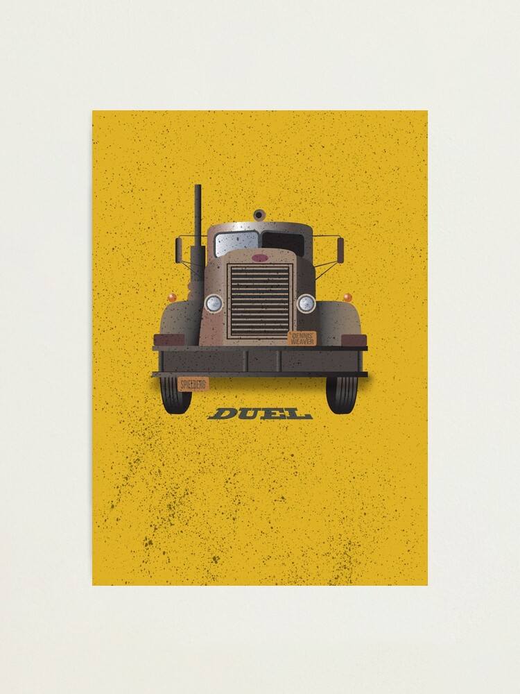 Alternate view of Duel - Alternative Movie Poster Photographic Print