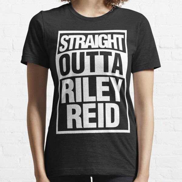 Straight Outta Riley Reid Black and White Essential T-Shirt