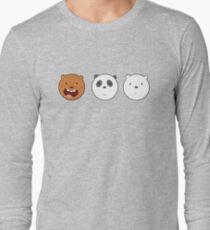 We Bare Bears Triple Circle Long Sleeve T-Shirt