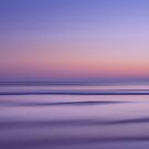 sunset over the ocean, purple and golden, photograph,  striped ombre pattern  by Angie Stimson