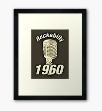 Vintage Rockabilly 1960 Framed Print