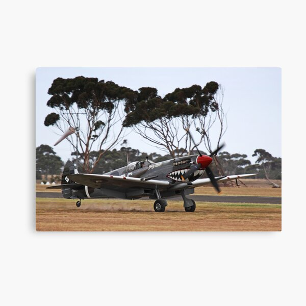 Spitfire Landing Canvas Print