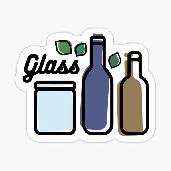 Glass Label Sticker