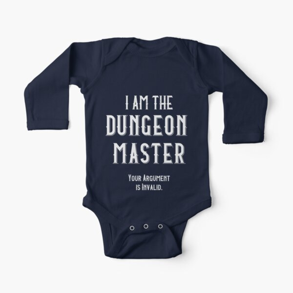 I am the Dungeon Master Long Sleeve Baby One-Piece