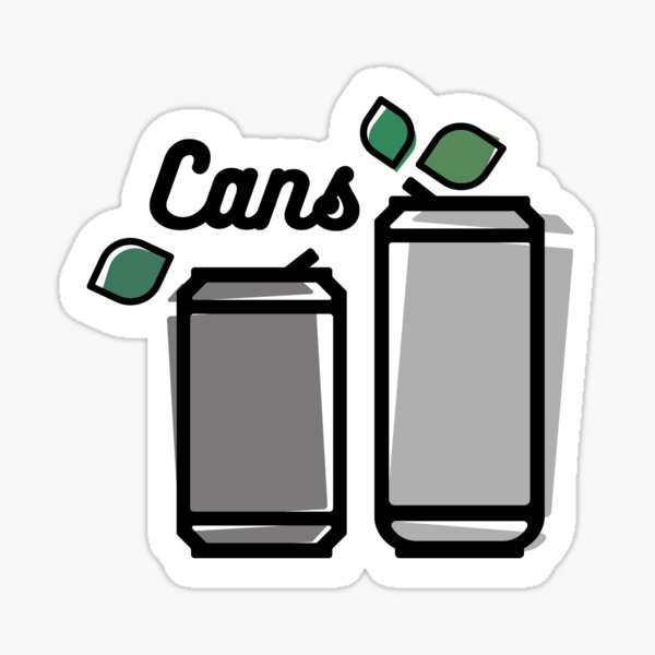Cans Label Sticker