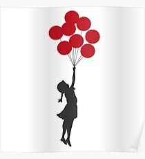 Bansky Red Balloon Girl Poster
