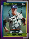 313 - Billy Spiers by Foob's Baseball Cards