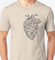 Wooden Tree Heart Design  Unisex T-Shirt