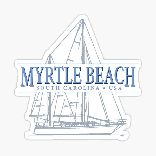 Myrtle Beach South Carolina sailing souvenir Sticker