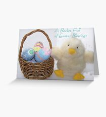 A Basket Full of Easter Blessings Greeting Card