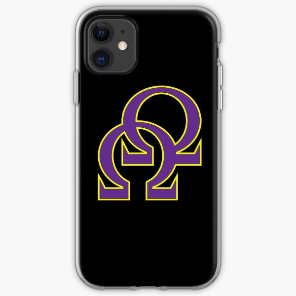 Que Double Omega Purple Gold Psi Phi iPhone Soft Case