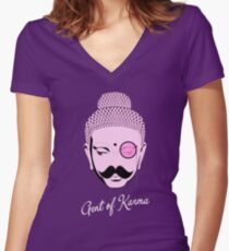 Gent Of Karma Women's Fitted V-Neck T-Shirt