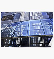 Steel Window Reflections Poster