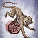 Year of the Monkey Card by Stephanie Smith