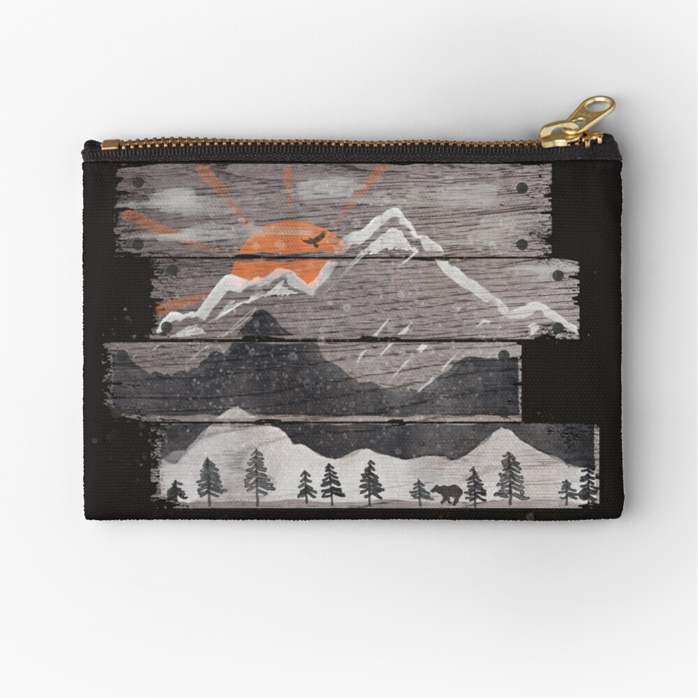 Into the Grey... Zipper Pouch