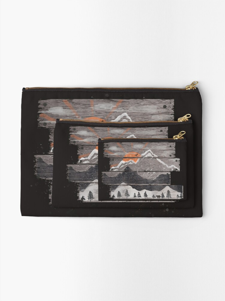 Alternate view of Into the Grey... Zipper Pouch
