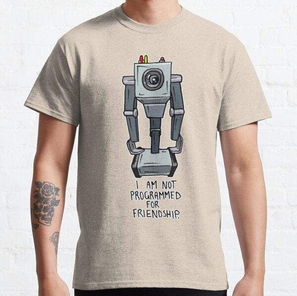 """Butter Robot from Rick and Morty™ with Quote """"I am not programmed for friendship."""" Classic T-Shirt"""