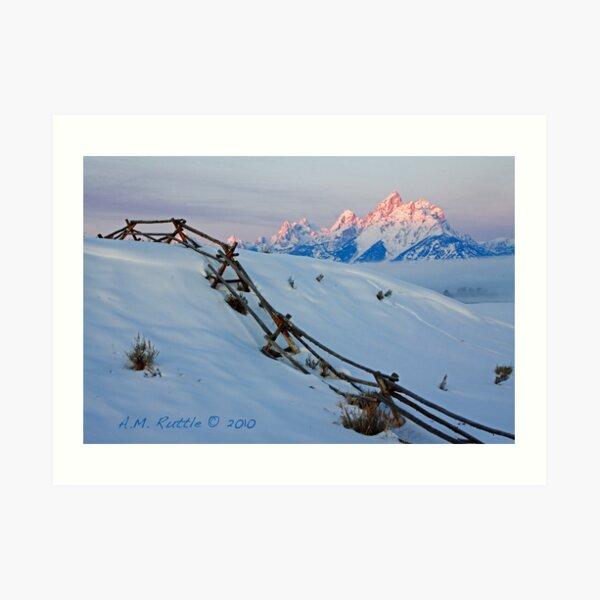 Running Buck & Rail, First Light on the Grand Art Print