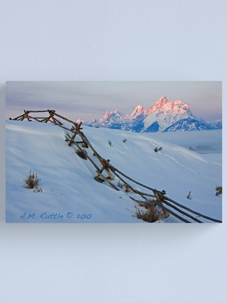 Alternate view of Running Buck & Rail, First Light on the Grand Canvas Print