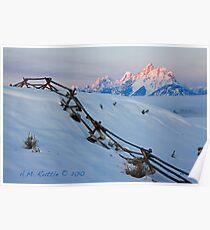 Running Buck & Rail, First Light on the Grand Poster