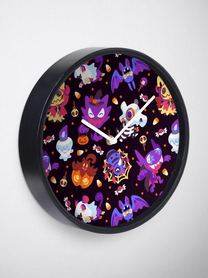 Alternate view of Halloween Pokes Clock