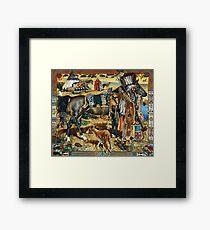 Hermes Seidenschal Les Cheyennes Kermit Oliver RARE Gerahmtes Wandbild