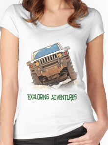 Exploring Adventures Women's Fitted Scoop T-Shirt