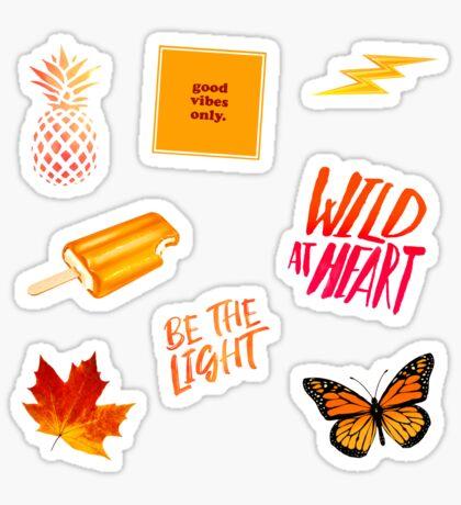 Orange Yellow Pack Sticker