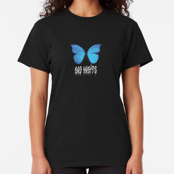 Butterfly Artsy Blue Women/'s Novelty T-Shirt
