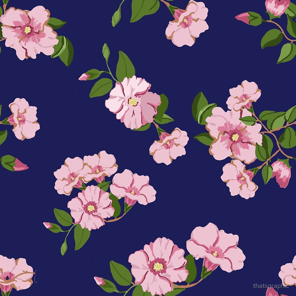 Pretty pink floral Australia's Sturts Desert Rose by thatsgraphic