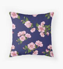 Pretty pink floral Australia's Sturts Desert Rose Throw Pillow