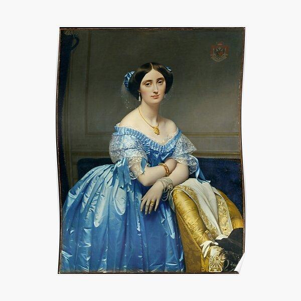Jean Auguste Dominique Ingres. Princesse de Broglie, 1851-53. Poster