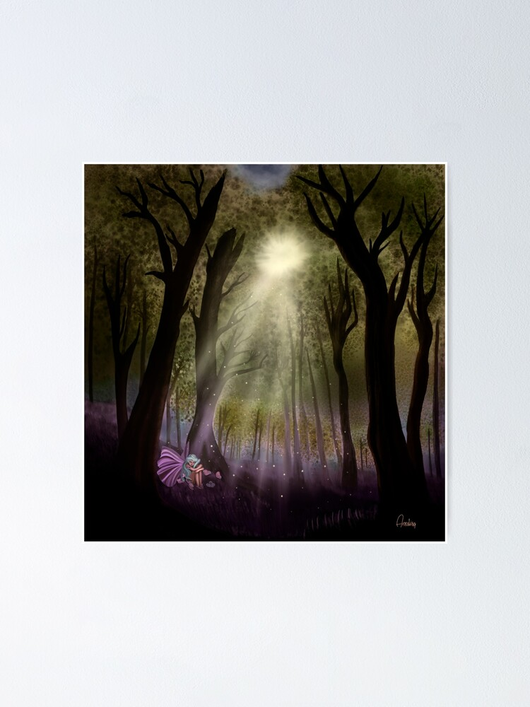 Alternate view of enchanted woodland Poster