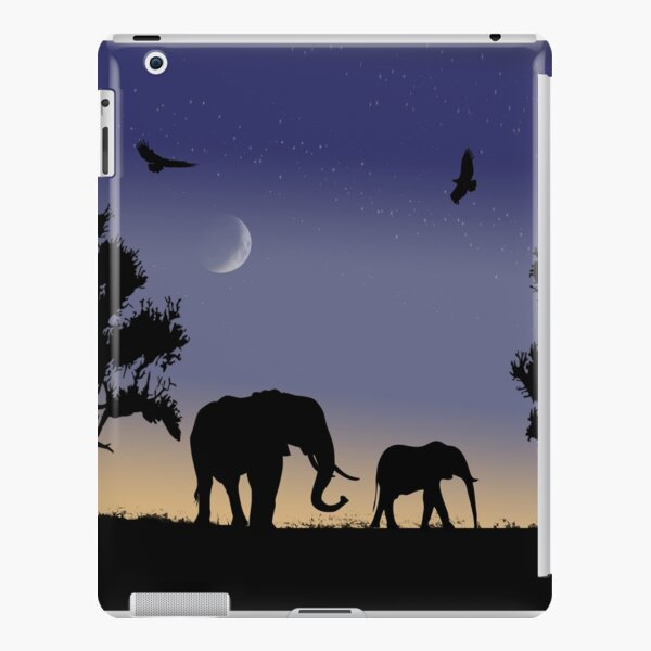 elephants at dawn iPad Snap Case