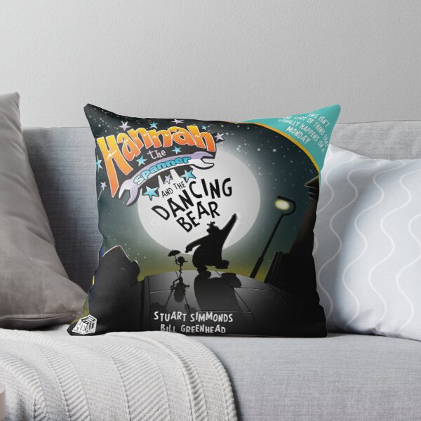 Hannah and the Dancing Bear cover Throw Pillow