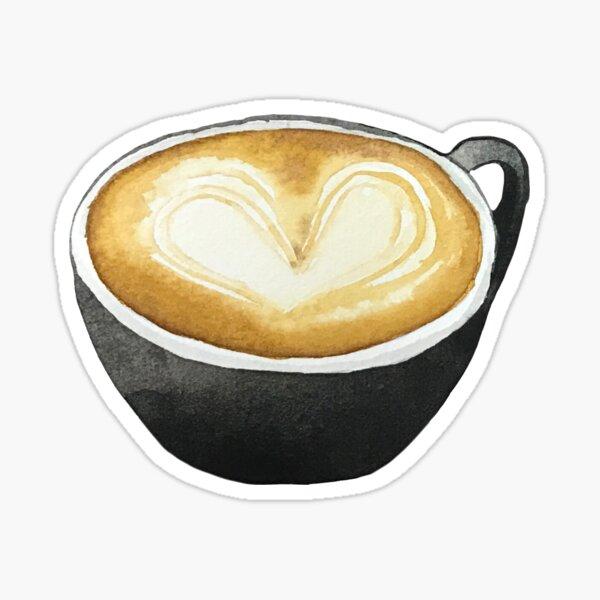 Latte Art Kaffee Sticker