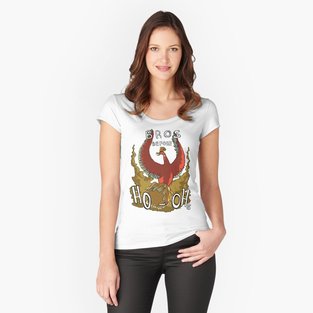 Bros Before Ho-ohs Women's Fitted Scoop T-Shirt Front