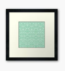 Abstract Mirror Mint Framed Print