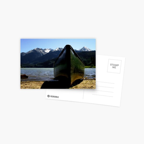 Mountain Peaks in Canada Postcard
