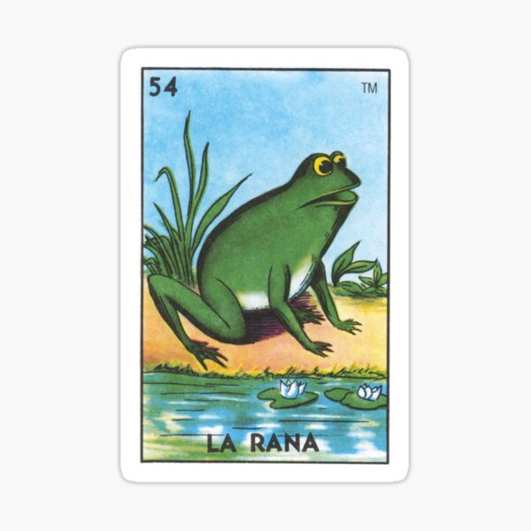 La Rana Loteria Mexican Bingo Frog Card Sticker