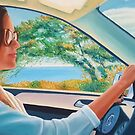 Driving into the future. oil on canvas by terezadelpilar ~ art & architecture