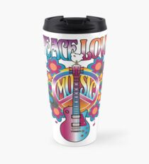 Peace, Love and Music Travel Mug