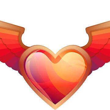 Herz flügel bronze von THELOUDSiLENCE