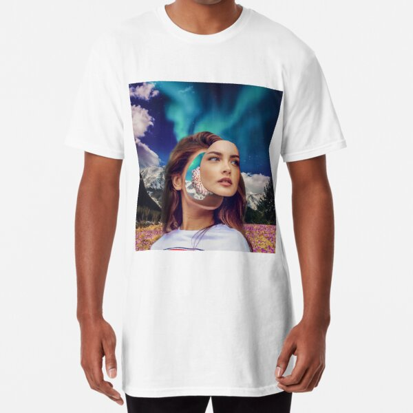 The girl who was running in the flower field Long T-Shirt