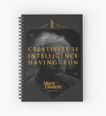 Cuaderno de espiral Cita de: Albert Einstein sobre la creatividad - Camisetas, pósters, pegatinas y regalos