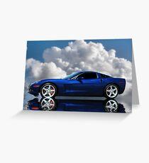 Corvette C6 Profile Greeting Card
